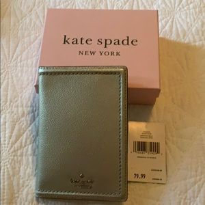 Kate Spade Silver Passport Holder/Wallet